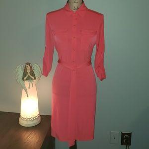 New Calvin Klein Long Sleeve Shirt Dress